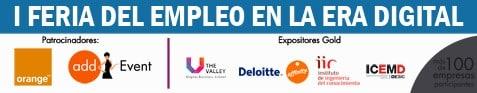 Faldon FEED con patrocinadores - Feria del Empleo en la Era Digital