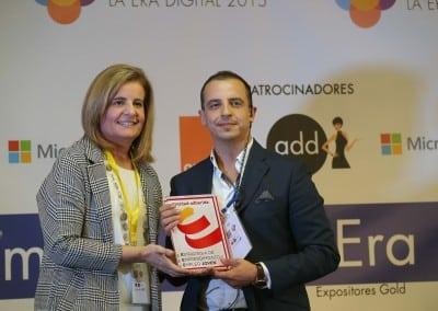 Feria del Empleo en la Era Digital - Sra.Ministra Fatima Bañez - Director de FEED Roberto Menéndez