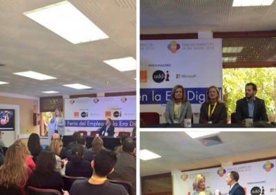 Sala Orange - Congreso Principal Conferencias en la I Feria del Empleo en la Era Digital